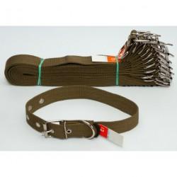№140 Ошейник брезент одинарный (30 мм - длина 57 см)