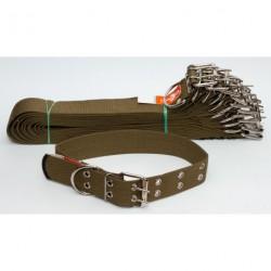 №143 Ошейник брезент одинарный (45 мм - длина 68 см)