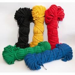 №66 Верёвка крученая х/б цветная (6 мм - 50 м)
